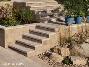 Melville® Tandem® Step Unit by Permacon